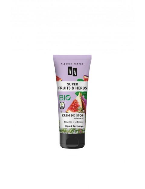 AA Super Fruits&Herbs krem do stóp rozmaryn&figa 75 ml