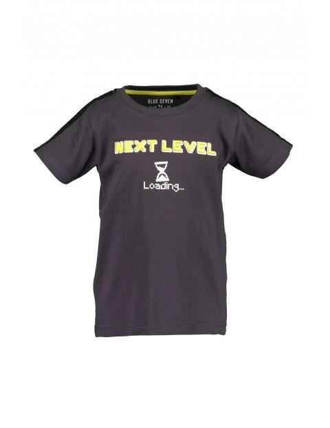 T-Shirt chłopięcy czarny Next level