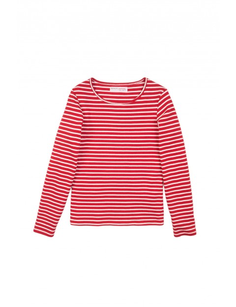 Bluzka w biało czerwone paski