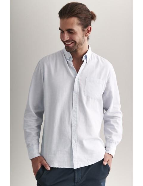 Bawełniana koszula męska Tatuum- biała