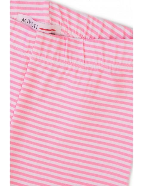 Leginsy dziewczęce w różowe paski