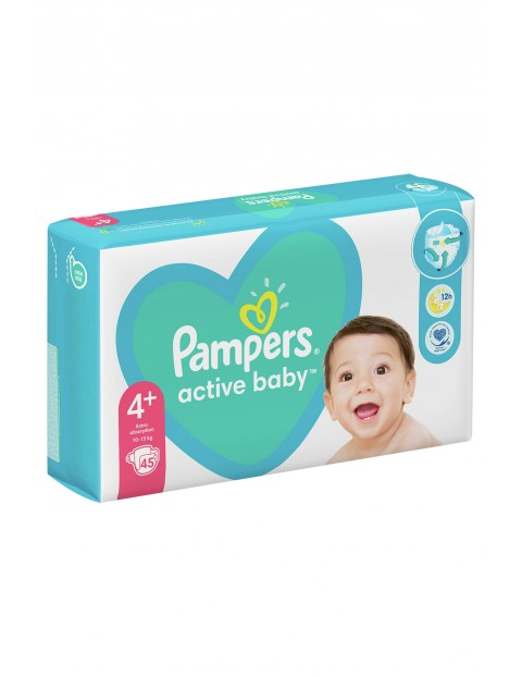 Pampers Active Baby, rozmiar4+, 45szt, 10-15kg