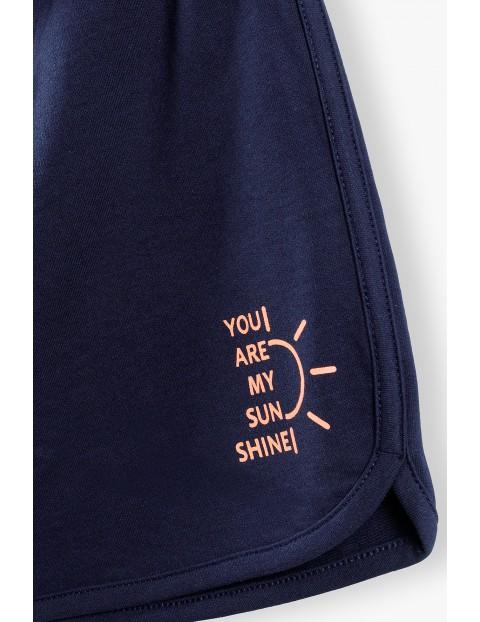Bawełniane granatowe szorty damskie