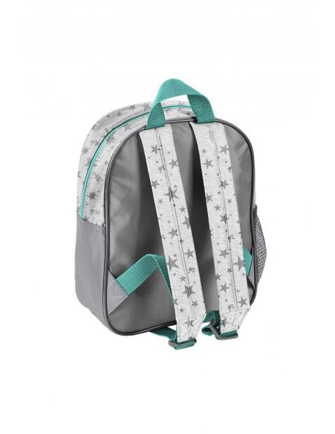 Plecak przedszkolny z pieskiem - szary