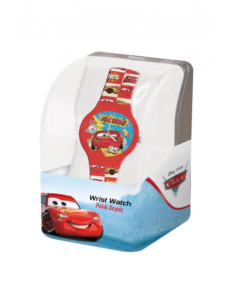 Zegarek analogowy w pudełku Cars