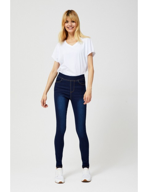 Jeansy typu jeggins- niebieskie