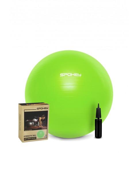 Piłka gimnastyczna zielona z pompką FITBALL