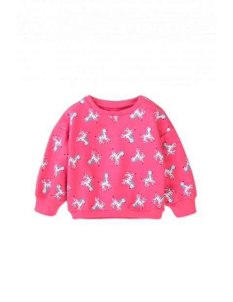 Bluza dziewczęca różowa w zebry