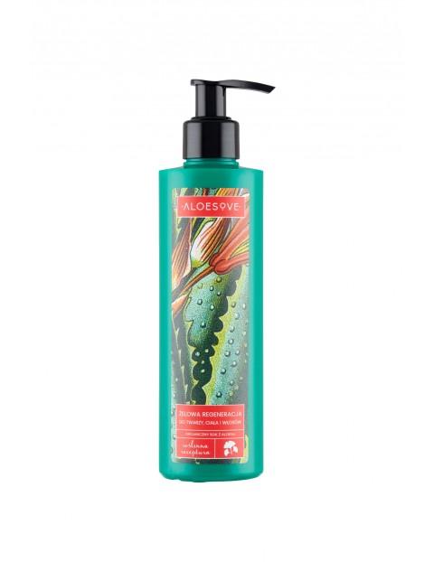 Aloesove Żelowa regeneracja do twarzy ciała i włosów 250 ml