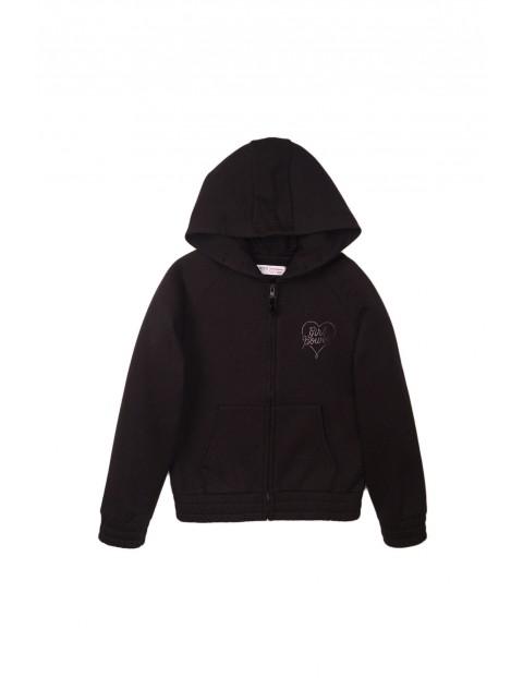 Bluza dresowa dla przedszkolaka - czarna z kapturem