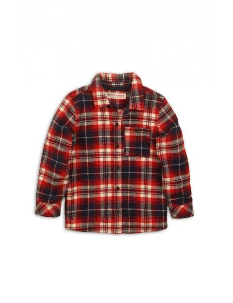 Koszula chłopięca czerwona w kratę