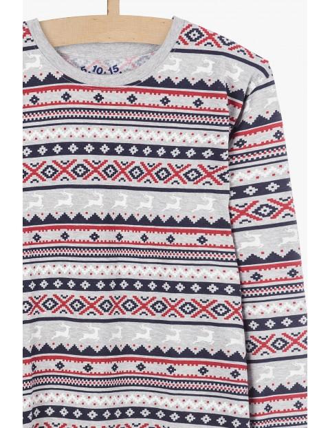 Piżama męska w świąteczne wzory