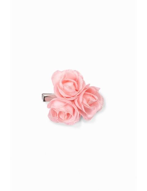 Spinka do włosów w kształcie kwiatków - różowa