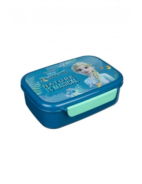 Pudełko śniadaniowe dla dziewczynki Frozen - niebieskie