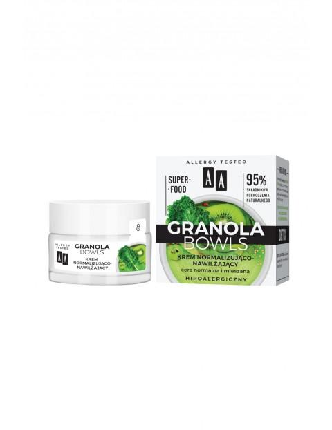 AA Granola Bowls krem normalizująco-nawilżający Detox cera normalna i mieszana 50 ml
