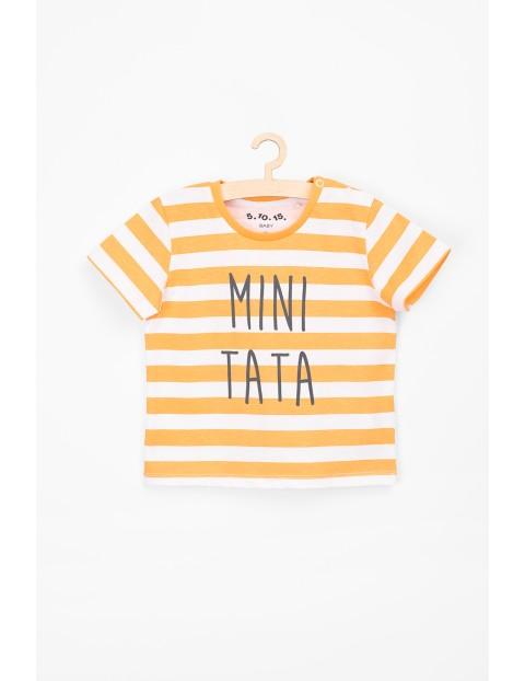 T-shirt niemowlęcy z napisem Mini tata