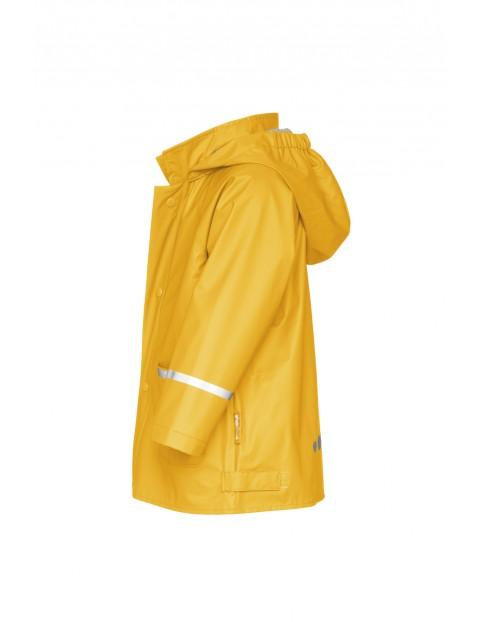 Płaszcz przeciwdeszczowy z odblaskami-zółty