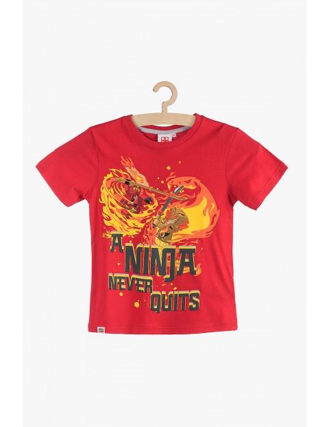 T-Shirt chłopięcy Lego Ninja- czerwony rozm 140
