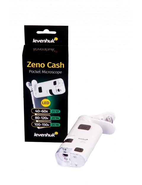 Mikroskop kieszonkowy Levenhuk Zeno Cash ZC12 - biały