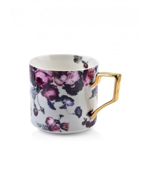 Porcelanowy kubek w kwiaty AMELIA GREY  360 ml