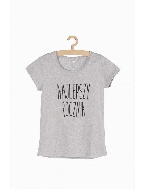 T-shirt damski z napisem - Najlepszy Rocznik