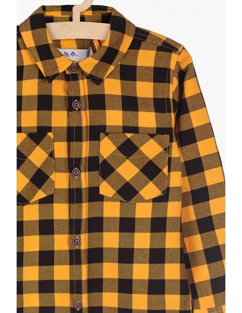 Bawełniana koszula w żółto- czarną kratkę
