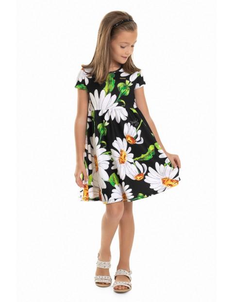 Sukienka dziewczęca z krótkim rękawem