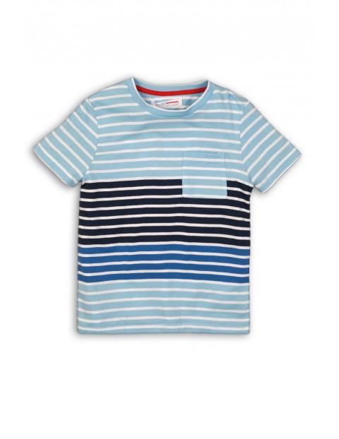 Koszulka chłopięca w paski z kieszonką