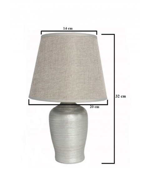 Lampa stołowa z ceramiczną podstawą