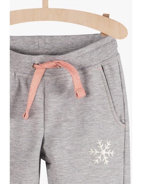 Szare dresowe spodnie dla dziewczynki