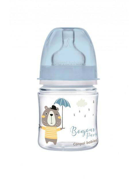 Canpol babies butelka szeroka antykolkowa 120 ml PP Easy Start BONJOUR - niebieska