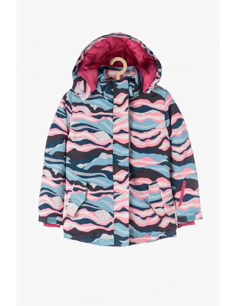 Kurtka narciarska dziewczęca - kolorowa
