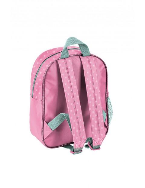 Plecak szkolny z pieskiem - różowy