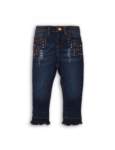Spodnie dziewczęce jeansowe 3L35A8