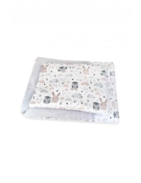 Pościel z wypełnieniem poduszka z kołderką Sowy i Króliczki