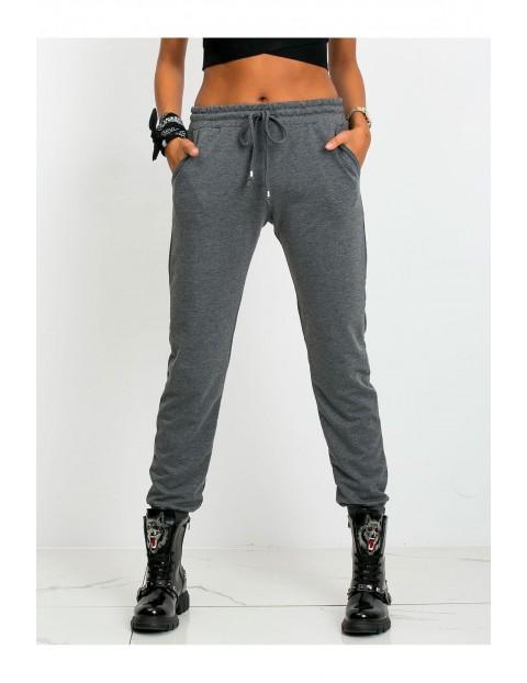 Spodnie dresowe damskie - szare