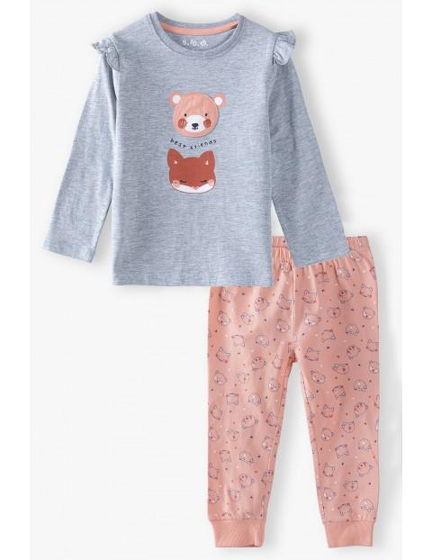 Piżama bawełniana dla dziewczynki-Leśne zwierzaki