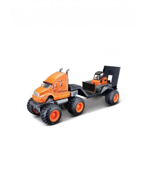 Pojazd budowlany z lawetą - pomarańczowy 3+
