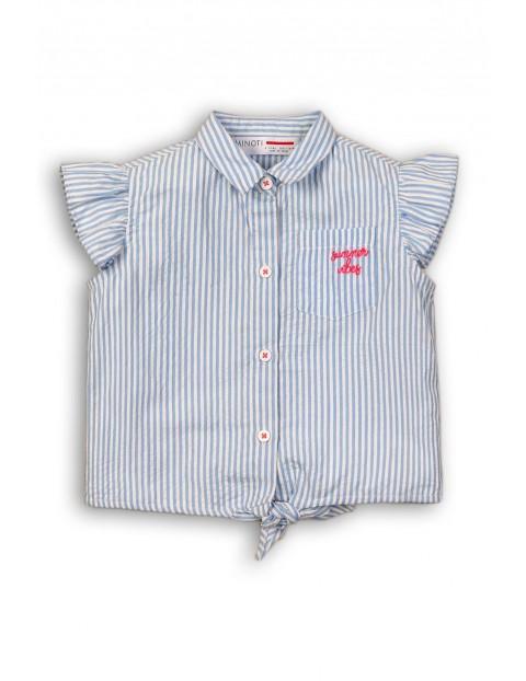 Koszula dziewczęca w niebiesko białe paski