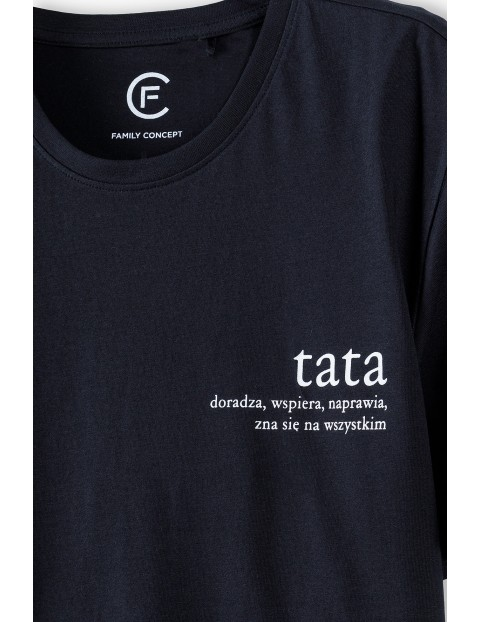 Bawełniany t-shirt męski Tata - ubrania dla rodziny