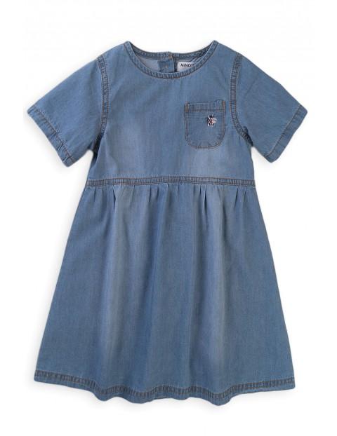 Sukienka niemowlęca jeansowa z kieszonką