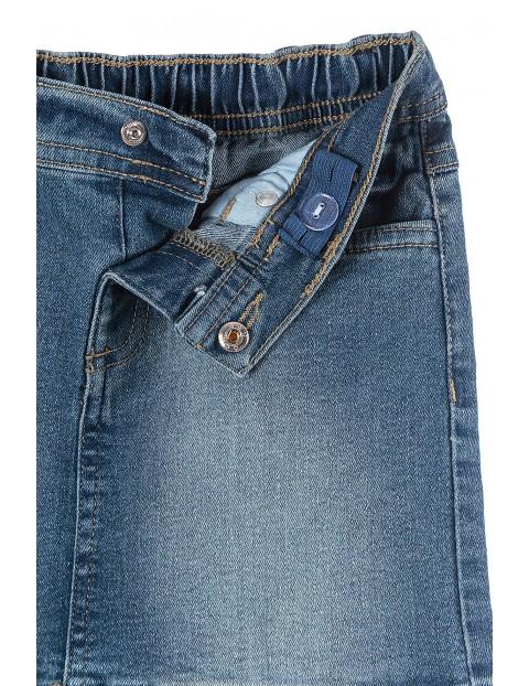 Spódnica dziewczęca jeansowa z lampasem
