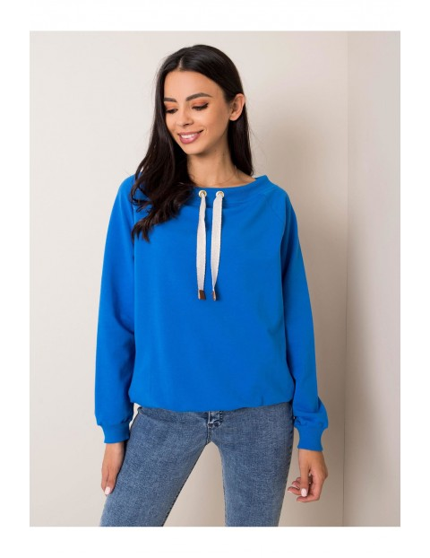 Bluza dresowa damska - niebieska
