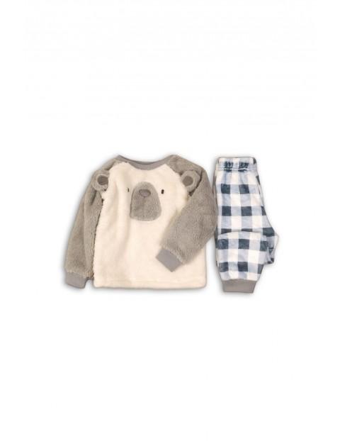 Pidżama chłopięca szara Miś