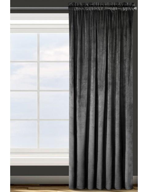 Zasłona gładka czarna 135x300 cm