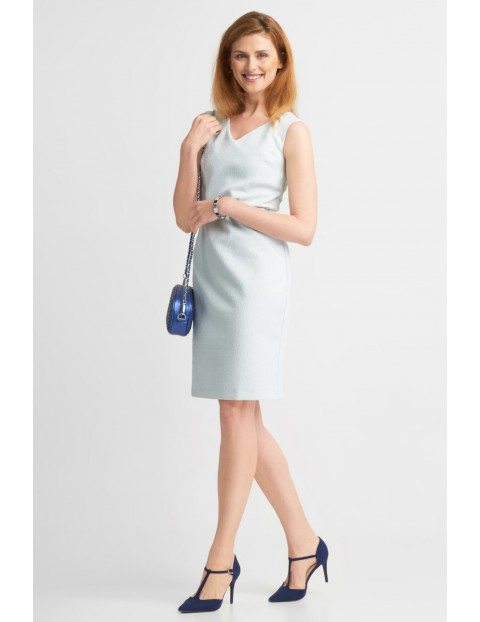 Elegancka sukienka damska z paskiem