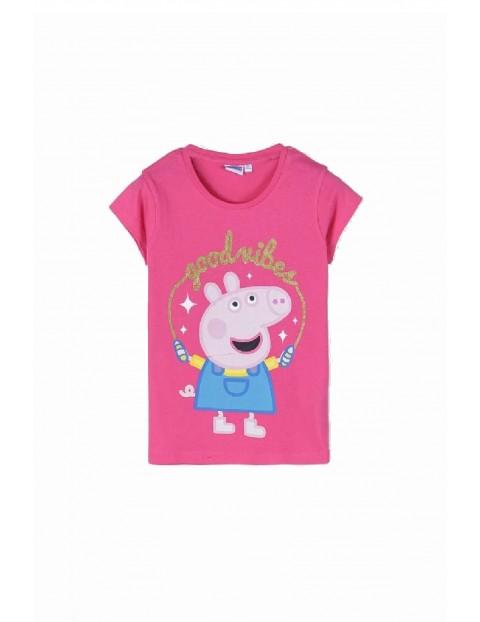 T-shirt dziewczęcy bawełniany Peppa