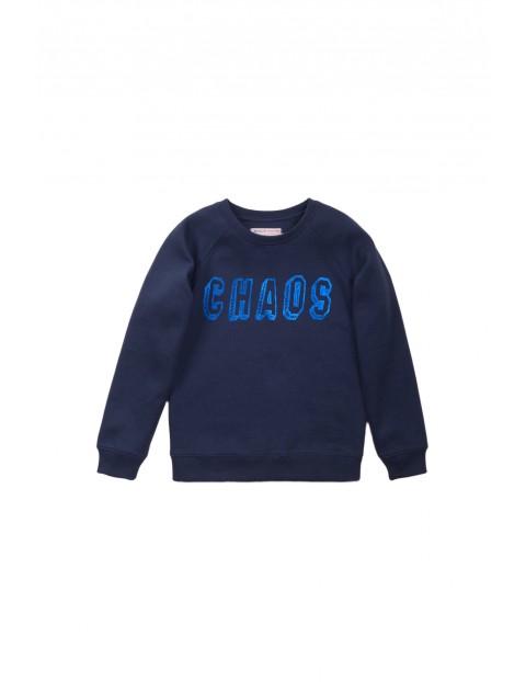 Bluza dresowa chłopięca granatowa - Chaos