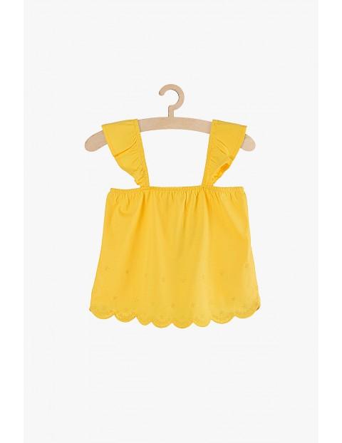 Żółta bluzka na ramiączka dla dziewczynki