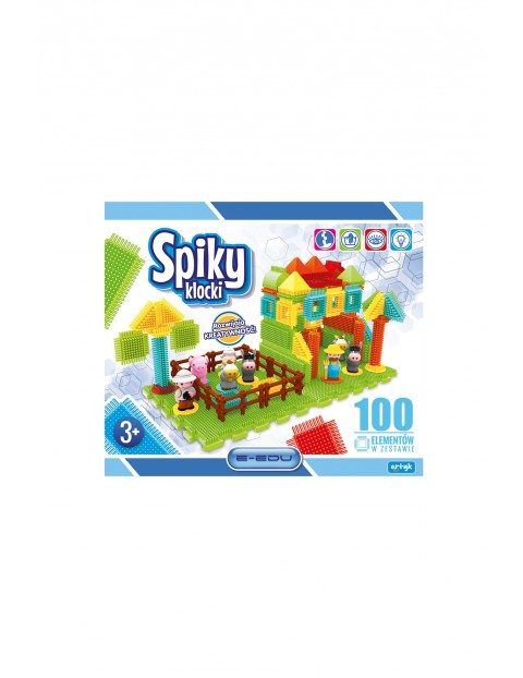 Klocki spiky farma - 100 elementów wiek 3+